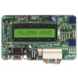 TABLEAU DE MESSAGES PROGRAMMABLE AVEC LCD. INTERFACE SERIELLE & 8 ENTREES