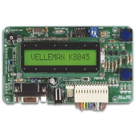TABLEAU DE MESSAGES PROGRAMMABLE AVEC LCD. INTERFACE SERIELLE & 8 ENTREES