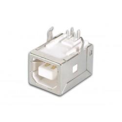 USB B FEMELLE. SIMPLE CONNECTEUR 90o. POUR CI