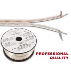 CABLE PROFESSIONNEL AUDIO 2 x 0.25mm² ARGENT-DORE