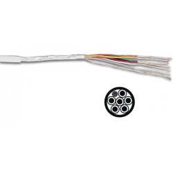 MULTICABLE BLINDE 6 x 0.19mm 1//BLANC
