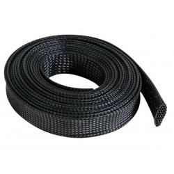 GAINE POUR CABLE - FLEXIBLE - 20 mm x 5 m - NOIR