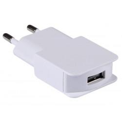 CHARGEUR ULTRAPLAT AVEC CONNEXION USB 5 V - 1 A - BLANC