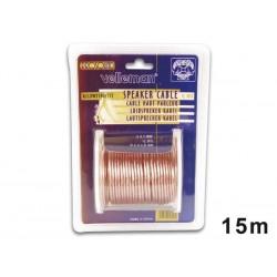 CABLE HAUT-PARLEUR - TRANSPARENT - 2 x 1.00mm² - 15m