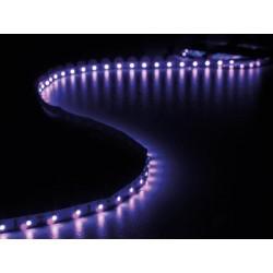 ENSEMBLE DE BANDE A LED FLEXIBLE ET ALIMENTATION - ULTRAVIOLET - 300 LED - 5 m - 12Vcc - SANS REVETEMENT