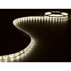 ENSEMBLE DE BANDE A LED FLEXIBLE ET ALIMENTATION - BLANC CHAUD - 300 LED - 5 m - 12Vcc - SANS REVETEMENT