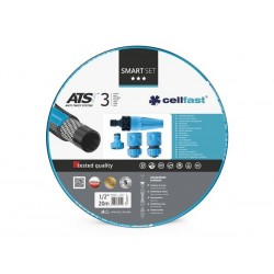 CELLFAST - SMART SET - TUYAU D'ARROSAGE 20 m - 1/2 - 4 BUSES
