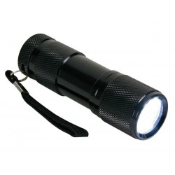 LAMPE TORCHE - 9 LEDs - ALUMINIUM