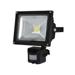 PROJECTEUR LED D'EXTERIEUR AVEC CAPTEUR PIR - PUCE EPISTAR 20 W - 6500 K