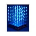 CUBE A LED 3D - 5 x 5 x 5 (LED BLEUE)