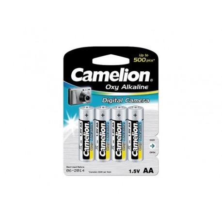 CAMELION OXY-ALCALINE 4 x R6 1.5V POUR CAMERA NUMERIQUE