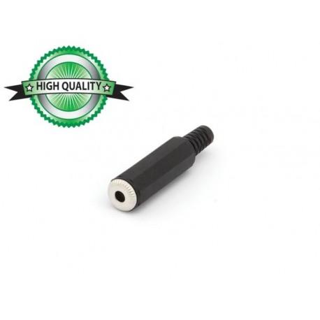 JACK FEMELLE 3.5mm STEREO PLASTIQUE NOIR