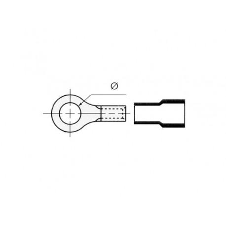COSSE A OEIL 13mm - JAUNE