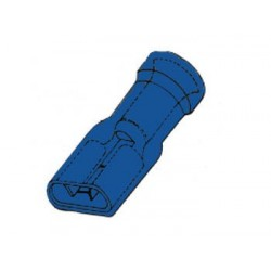 CLIP FEMELLE ISOLE 6.4mm BLEU