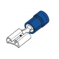 COSSE FEMELLE 6.4mm BLEUE