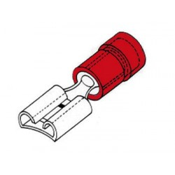 COSSE FEMELLE 6.4mm ROUGE