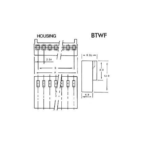 CONNECTEUR AVEC CABLE POUR CI - FEMELLE - 15 CONTACTS / 20cm