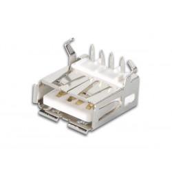 USB A FEMELLE. SIMPLE CONNECTEUR 90o. POUR CI