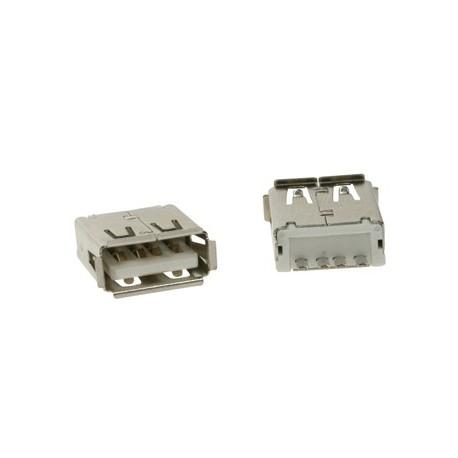 USB A FEMELLE. SIMPLE CONNECTEUR 180o. POUR CI