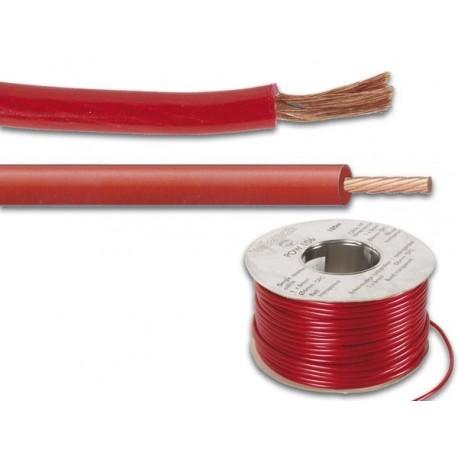 OFC CABLE D'ALIMENTATION - 6mm² - ROUGE - 100m