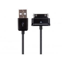 CABLE USB 2.0 VERS CONNECTEUR a 30 BROCHES POUR SAMSUNG® GALAXY TAB - NOIR - 1 m