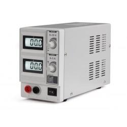 ALIMENTATION DC LAB 0-15 VCC / 0-3 A MAX AVEC DOUBLE ECRAN LCD