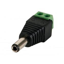 FICHE CC 5.5 x 2.1mm MALE VERS CONNEXION A VIS (5 pcs)