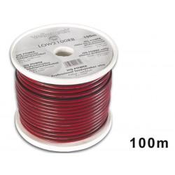 CABLE HAUT-PARLEUR - ROUGE/NOIR - 2 x 1.00mm² - 100m