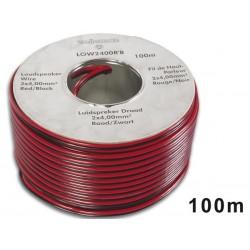 CABLE HAUT-PARLEUR - ROUGE/NOIR - 2 x 4.00mm² - 100m
