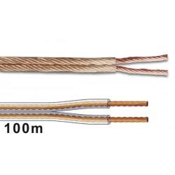 CABLE PROFESSIONNEL POUR ENCEINTES 2 x 4.00mm - TRANSPARENT