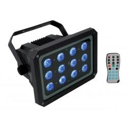 PROJECTEUR LED D'EXTERIEUR - 12 LED RGB 3W - AVEC TELECOMMANDE