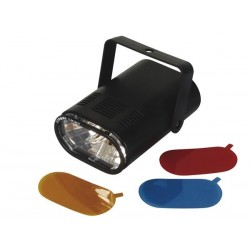 STROBOSCOPE MINIATURE AVEC 3 FILTRES COLORES INTERCHANGEABLES