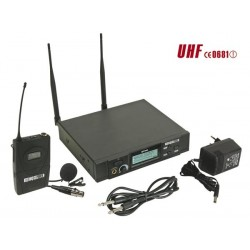 MICROPHONE PLL UHF TRUE DIVERSITY SANS FIL A 8 CANAUX - EMETTEUR BODY-PACK MICRO-CRAVATE