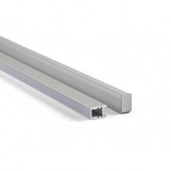 PROFILE EN ALUMINIUM POUR FLEXIBLES LED - LIGNE ETROITE DE 10 mm - 2 m