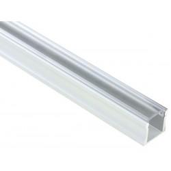 PROFILE EN ALUMINIUM POUR FLEXIBLES LED - 2M - DIFFUSEUR TRANSPARENT