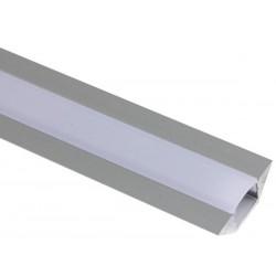 PROFILE EN ALUMINIUM POUR FLEXIBLES LED - TYPE ANGLE - 2M