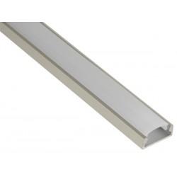 PROFILE EN ALUMINIUM POUR FLEXIBLES LED - PLAT / LARGE - 2M