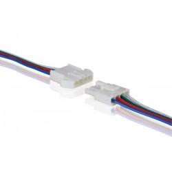 CONNECTEUR POUR FLEXIBLE LED RVB AVEC CABLE (MALE-FEMELLE)