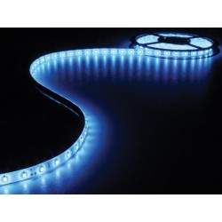 ENSEMBLE DE BANDE A LED FLEXIBLE ET ALIMENTATION - BLEU - 300 LEDS - 5 m - 12 Vcc