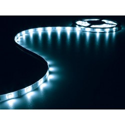 ENSEMBLE DE BANDE A LED FLEXIBLE ET ALIMENTATION - BLEU - 150 LEDS - 5 m