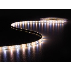 ENSEMBLE DE FLEXIBLE LED. CONTROLEUR ET ALIMENTATION - 300 LED - 5 m - 12 VCC - BLANC CHAUD & BLANC NEUTRE