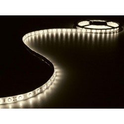 ENSEMBLE DE BANDE A LED FLEXIBLE ET ALIMENTATION - BLANC CHAUD - 300 LED - 5 m - 12Vcc - SANS REVETEMENT