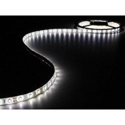 ENSEMBLE DE BANDE A LED FLEXIBLE ET ALIMENTATION - BLANC FROID - 300 LED - 5 m - 12Vcc