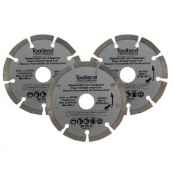 DISQUES DE DIAMANT - 115 mm - SEGMENTE - 3 pcs