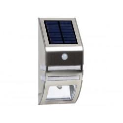 LAMPE SOLAIRE MURALE EN INOX POUR JARDIN PIR DE 0.5 W