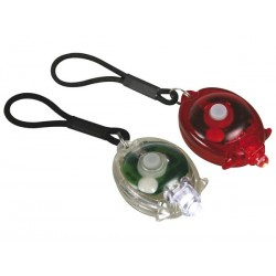 ECLAIRAGE A LED POUR BICYCLETTE EASY-FIT - 1 LAMPE ROUGE - 1 LAMPE BLANCHE