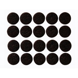BANDE FEUTREE ADHESIVE - ROND 20 mm - 20 pcs