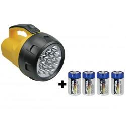 LAMPE TORCHE PUISSANTE - 16 LEDs - 4 x PILE LR20