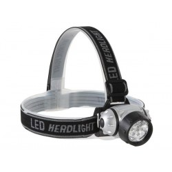 LAMPE FRONTALE A 7 LEDs BLANCHES ULTRALUMINEUSES