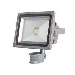 PROJECTEUR LED D'EXTERIEUR AVEC CAPTEUR PIR - PUCE EPISTAR 30 W - 6500 K